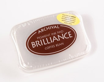 Brilliance Pearlescent Ink Pad - Coffee Bean