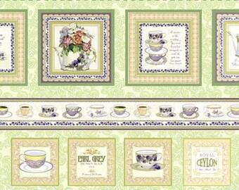 Tea Party Fabric Studio E  -Garden Tea Party Panel