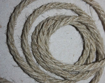 4 mm Linen Rope = 12 Yards = 11 Meters Natural Linen