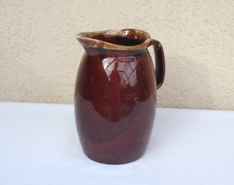 HULL Brown Drip Pitcher Jug Oven Proof 5 Pint.