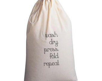Laundry Bag Wash Dry Repeat
