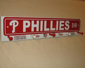 "Philadelphia Phillies coat rack "" hangup "" (convo me your favorite team)"