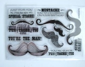 """The Craft's Meow """"Fun-tache-tic"""" Mustache Clear Stamp Set"""