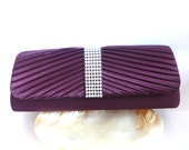 SALE - Purple Bridal and Evening Clutch