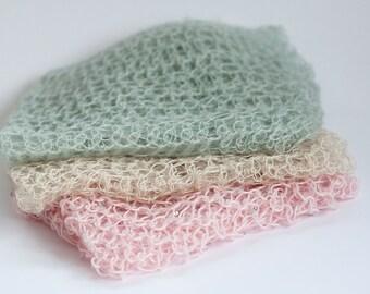 Crocheted Wrap Photograph Prop for Newborns