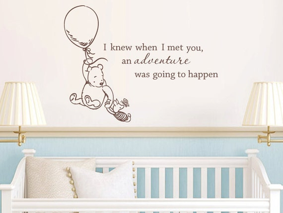 Unavailable listing on etsy for Classic pooh wall mural
