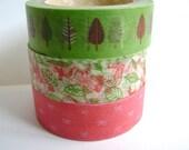 Leaf Garden Spring Washi Tape - Polka Dot Japanese Deco Tape