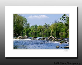 Spring Landscape Photography , Tranquil art, Signed Matted Print, Ready for framing