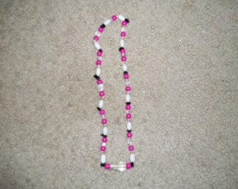 Pink and Black Necklace