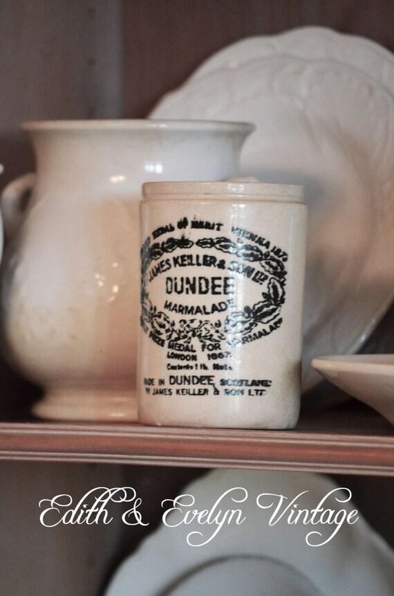 Vintage Marmalade Pot England James Keiller Dundee