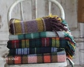 plaid wool blanket - thebrownshed