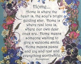 Home HOUSEWARMING Gift Home Pressed Flower Art Reproduction Family Ar