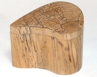 Spalted Maple Wood Box - organic free form - home decor - hand crafted