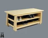 Handcrafted Tansu Entryway Bench. Made in USA - SALE