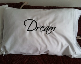 Dream His and Hers Pillowcases Wedding Gift Anniversary Couples Teens Room Decor
