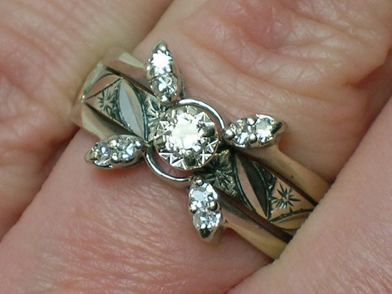 1CT 14K White Gold Oxhead Style Fine Diamond Engagement Ring For Woman Romantic Anniversary Gift