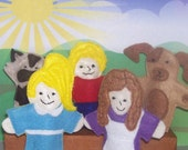 Best Friends Forever set of 5 Original Felt Finger Puppets for Imaginative Play and Learning