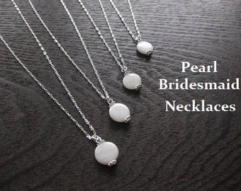 bridesmaid necklaces, pearl necklaces, pearl jewelry, bridal pearl necklaces, bridesmaid pearl earrings, bridesmaid earrings, pearl earrings