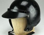 Vintage Black Bike Helmet Nesco Made in Japan Size M