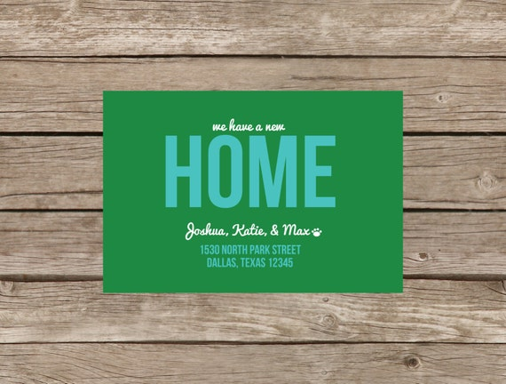Items similar to fun we39ve moved card change of address for Custom new address cards