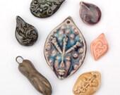 Seven for Spring / Ceramic Pendant Set (3/30/8)