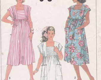 Maternity jiffy dress Size 10 from 1987 Simplicity 7965 sewing pattern
