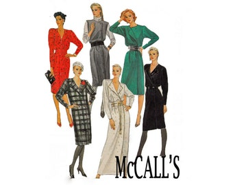 McCalls 8813 Combination B Sizes 8 10 12  uncut sewing pattern dress long short from 1983