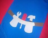 Tool belt onesie (add name)