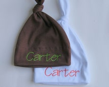 Set of 2 personalized baby hats