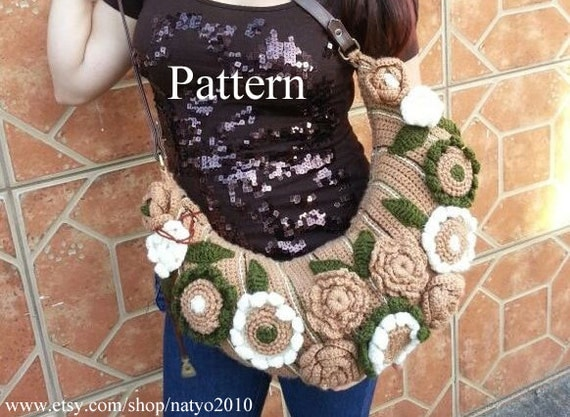 Instant download garden of eden crochet hobo tote bag for Garden of eden xml design pattern