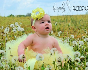 Baby Yellow Tutu Great for birthdays, photos and much more