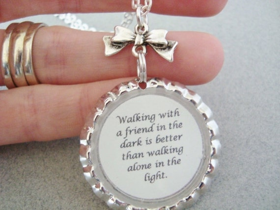 Friendship quotes on jewelry : Unavailable listing on etsy