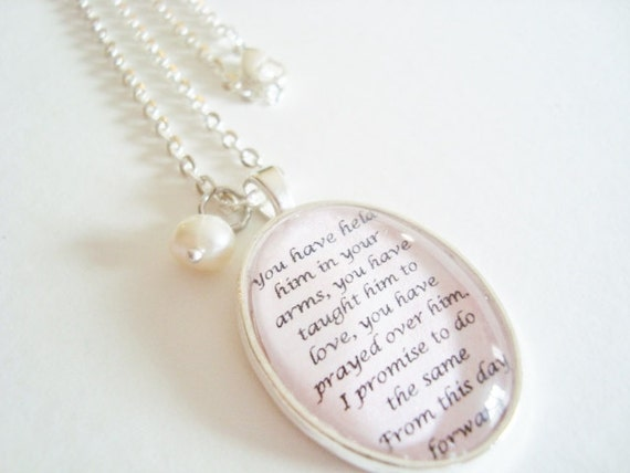 Mother Of The Groom Gift: Mother Of The Groom Pendant Necklace Gift By