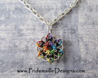 Gay Pride Celtic Visions Pendant - Version 2 - PENDANT ONLY