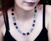Black and Grey Beaded Necklace Elegant Jewelry Professional Work Accessory