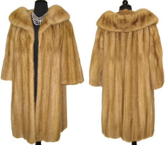 Reserved Mink Coat Full Length Real Fur Mad Men Couture