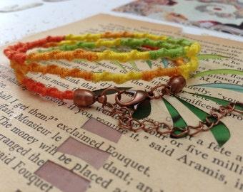 Summer citrus chinese staircase friendship bracelet