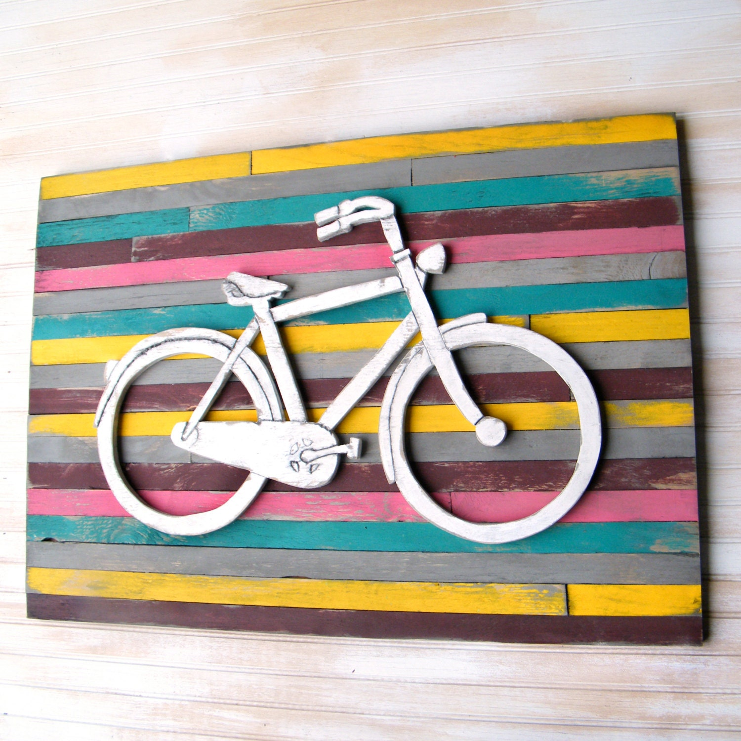 Bike Wall Art bicycle art pallet background large bicycle wall decor wooden