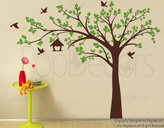 """custom for Jo - Big tree with love birds(100"""" W)"""