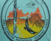 Vintage 1987 Klamath National Forest Fires t shirt L