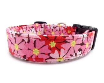 "Spring Bloom Dog Collar - 1"" Wide  - Medium & Large Sizes"