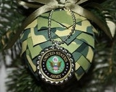 Military Ornament - U S Army,  Paper Pinecone Ornament