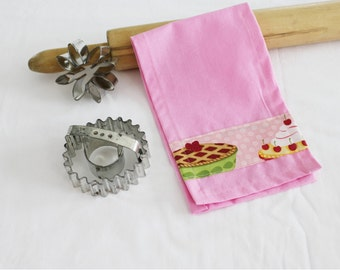 Pink Pies Child Size Toy Dish Towel for pretend play