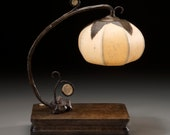 """Grande round  flower lamp with whimsical accents - """"Whimsy"""""""