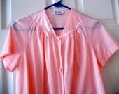 vintage VANITY FAIR Bed Jacket,Pink, Nylon, Lounge Wear,Sleep Robe, size Small