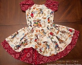 Cowgirl outfit-Western Outfit- Twirl Skirt and Peasant Top- Custom Made- 12 months to 10 years
