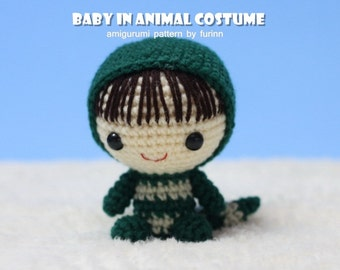 INSTANT DOWNLOAD Amigurumi Pattern Baby in Snake Costume/ Chinese Zodiac Snake