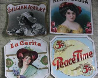 2 Vintage Cigar Box Labels