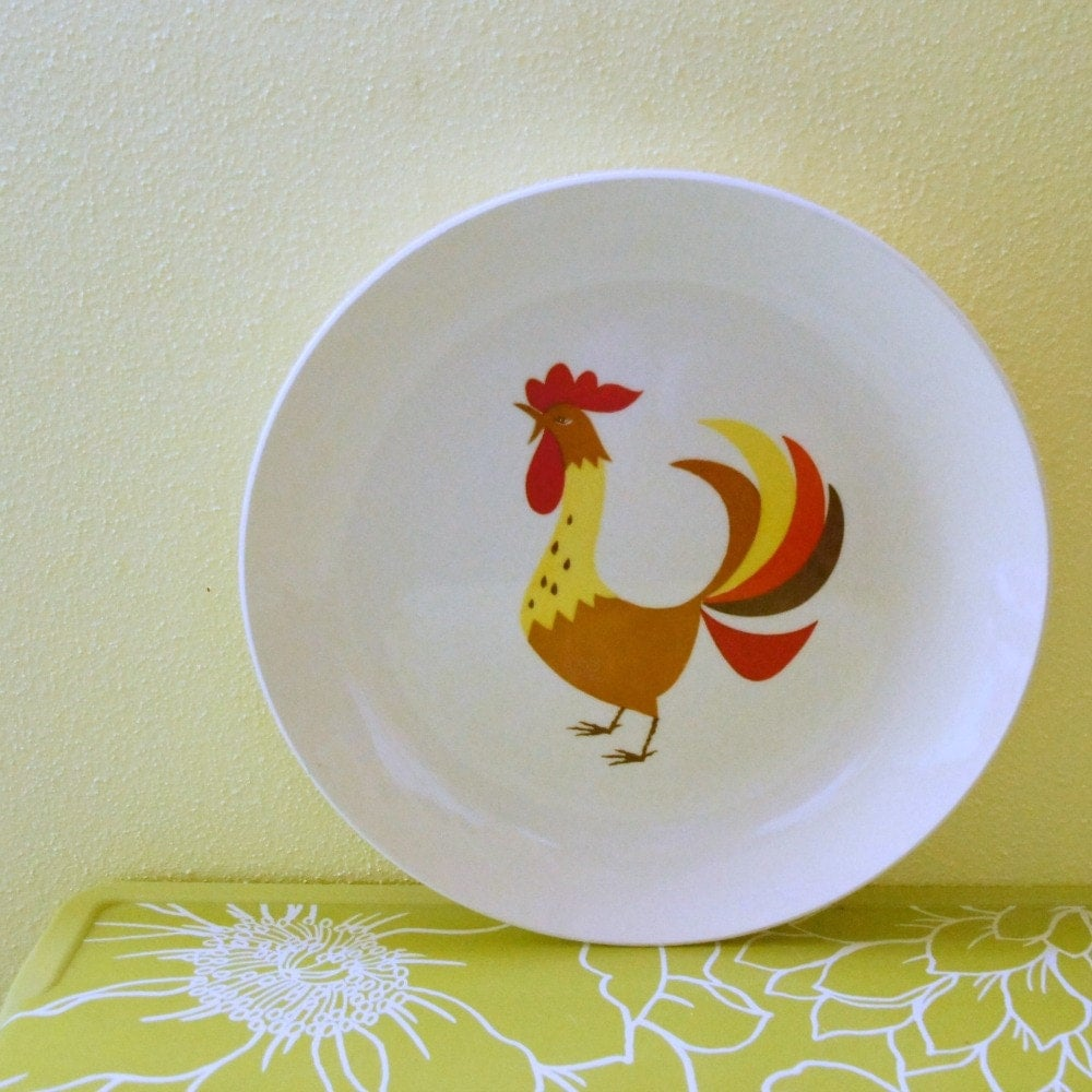 Rooster Decor Holt Howard Rooster Plate Kitschy Kitchen