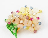 Vintage Spring Bouquet of Flowers Brooch